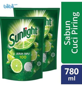 Sunlight Jeruk Nipis Refill 780 ml x 2 pcs