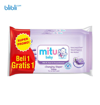 Mitu Baby Wipes - Purple Buy 1 Get 1