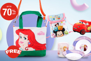 Disney Promo Up To 70% Off + Free Disney Mermaid Bag