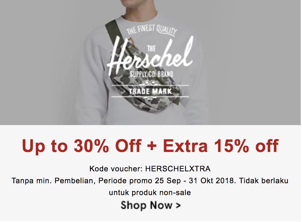 Herschel Sekarang 45% Lebih Murah Dengan Diskon Plus-plus