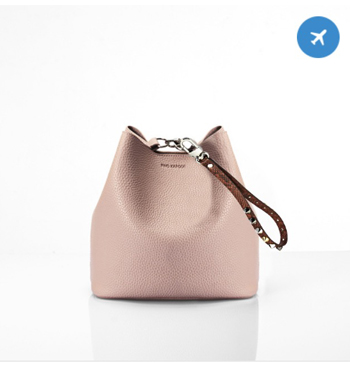 Find Kapoor Pink + Brown Stud Hand Strap