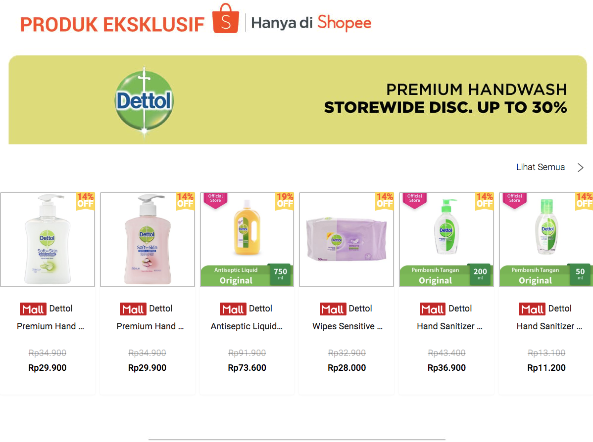 Promo Shopee - All Variant Dettol Diskon Sampai 30%