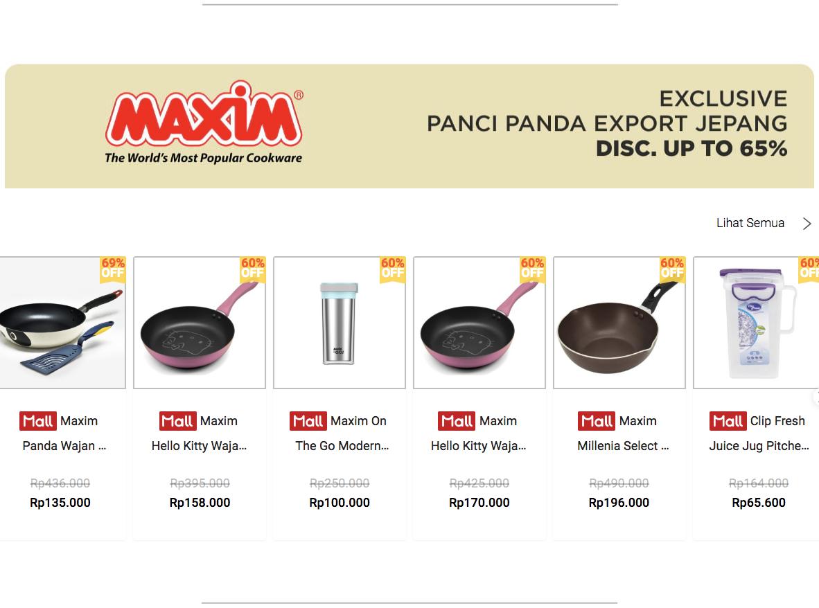 Promo Shopee Alat Masak Maxim Diskon 65%