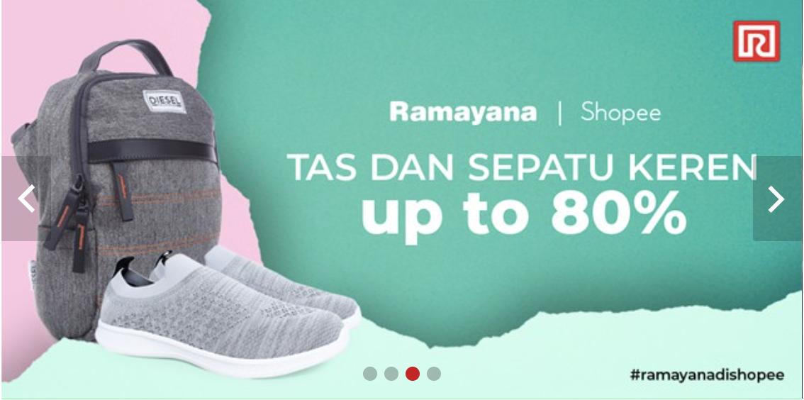 Promo Shopee Diskon Ramayana 80%