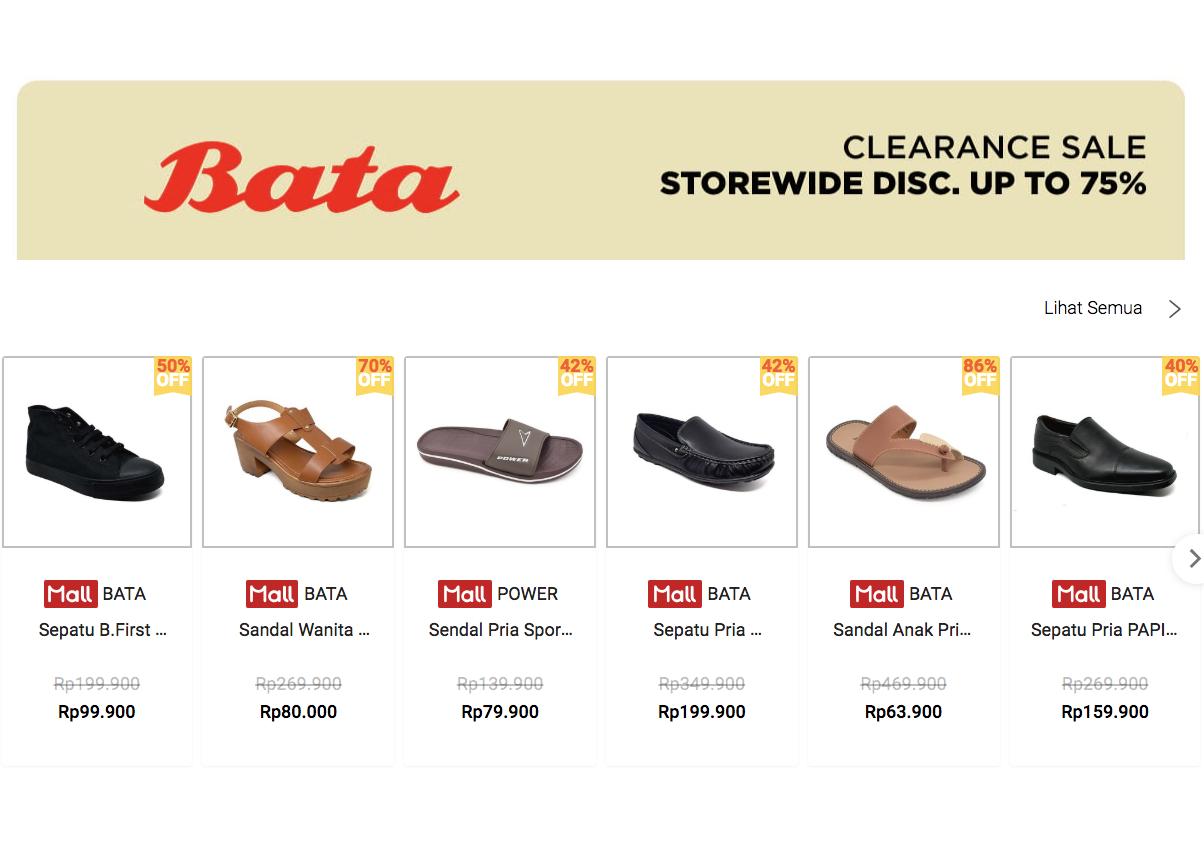 Voucher Shopee Diskon Sepatu Bata 75%