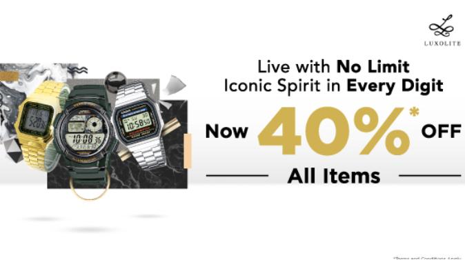 Tepat Waktu Dengan Koleksi Jam Baru Casio Diskon 40%