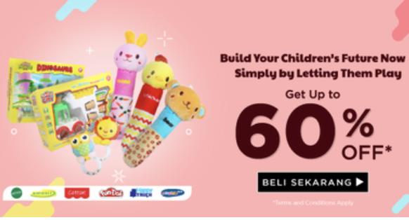 Mainan Anak Diskon Hingga 60%