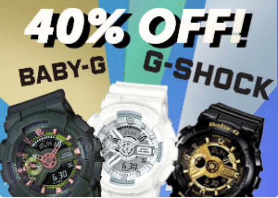 G-Shock All Items Discount 40%
