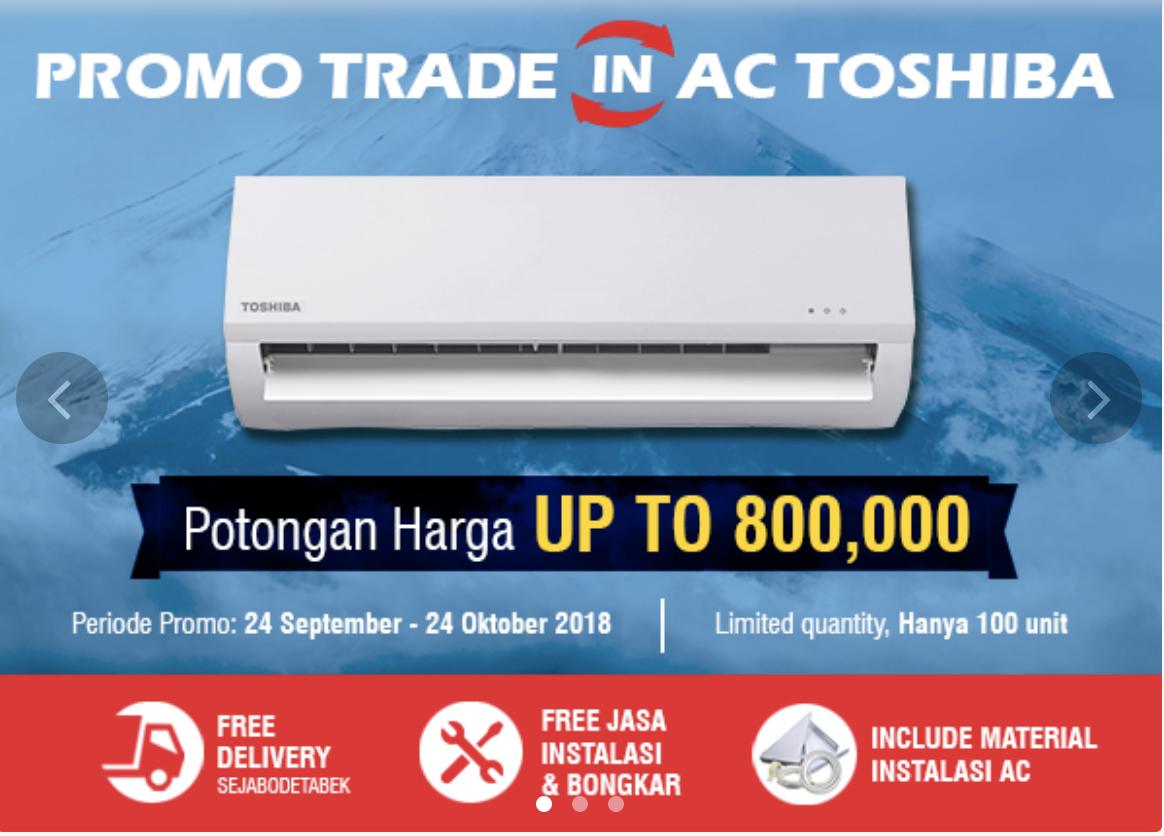 Toshiba Promo Instalasi AC