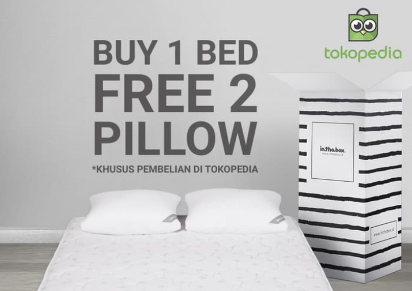 Kode Promo Tokopedia - Spring Bed Disc. 10% + Free Bantal