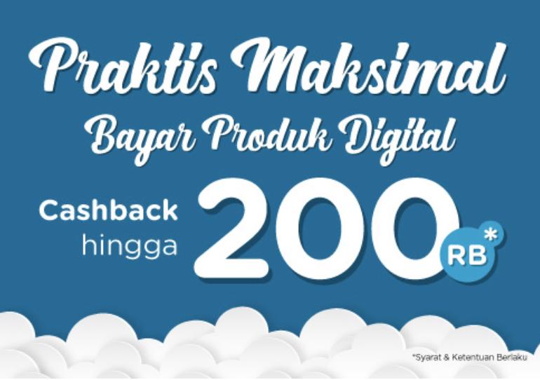 Cashback Sampai 200rb Bayar Produk Digital Di Tokopedia