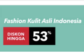 blanja.com Promo Produk Kulit Lokal Diskon Hingga 53%