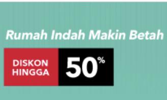 Dekor Rumah Diskon Hingga 50%