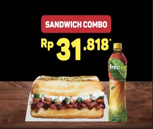 Domino's Pizza BBQ Beef Sandwich Lebih Murah Hanya 31rban