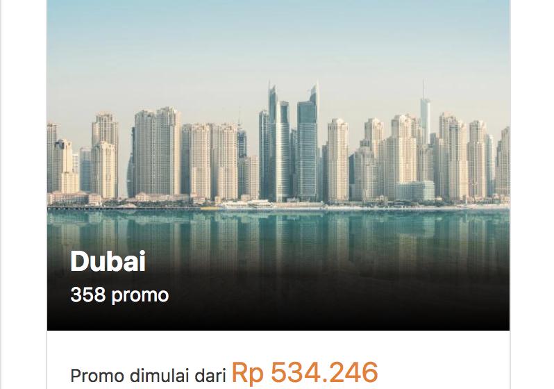 Hotel Murah di Dubai Mulai 500rb