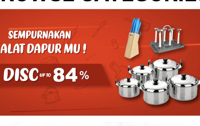 Alat Dapur Diskon Hingga 84%