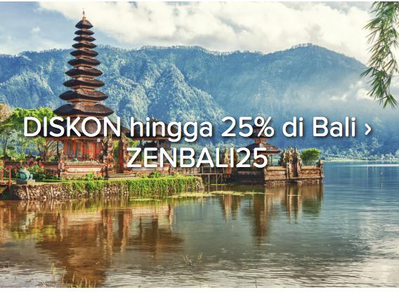 Tambahan Diskon 25% Untuk Hotel Pilihan Di Bali