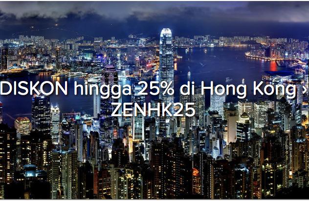 Diskon 25% Penginapan di Hong Kong Dengan Kode Voucher Ini