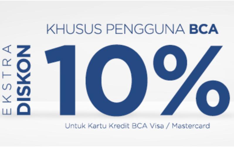 All Product Diskon 10% Dengan CC BCA
