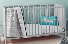 Mothercare Balham Cot Bed Grey