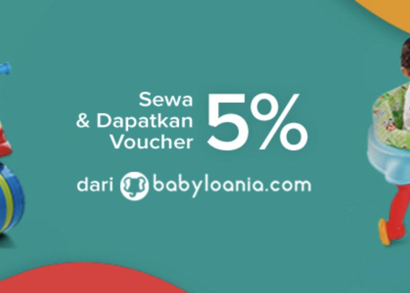 Diskon 5% Sewa Perlengkapan Untuk Bayi