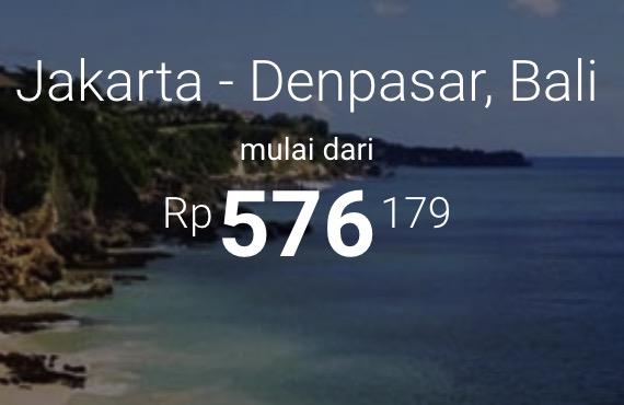 Tiket Pesawat JKT - Bali Murah Mulai 570rban