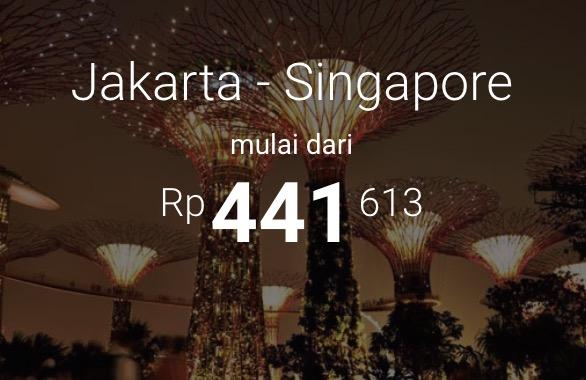 Tiket Peswat Murah Jakarta Singapore Mulai 441rb
