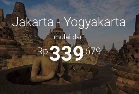 Tiket Pesawat murah Jakarta - Jogja Mulai Dari 339rb