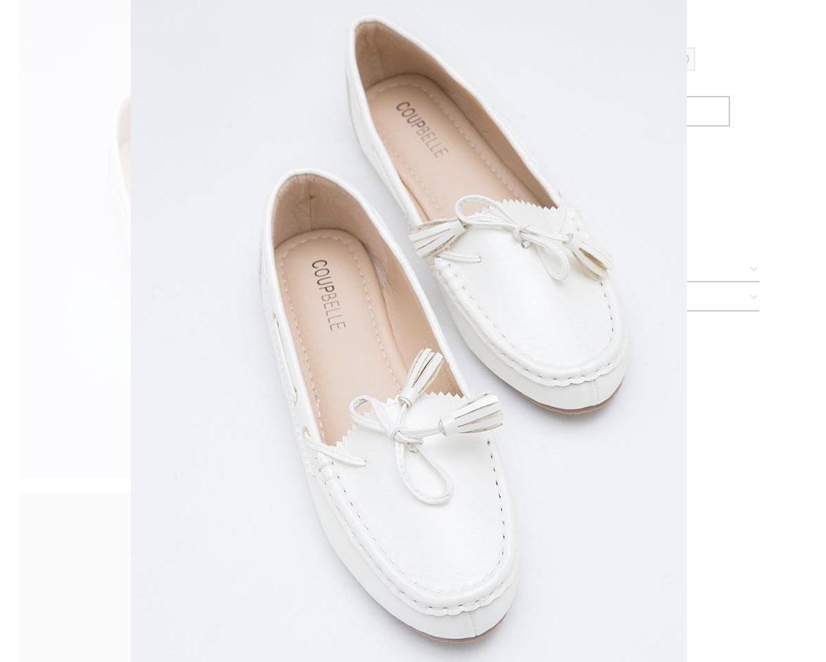 Hijabenka White Flat Shoes Diskon 44%