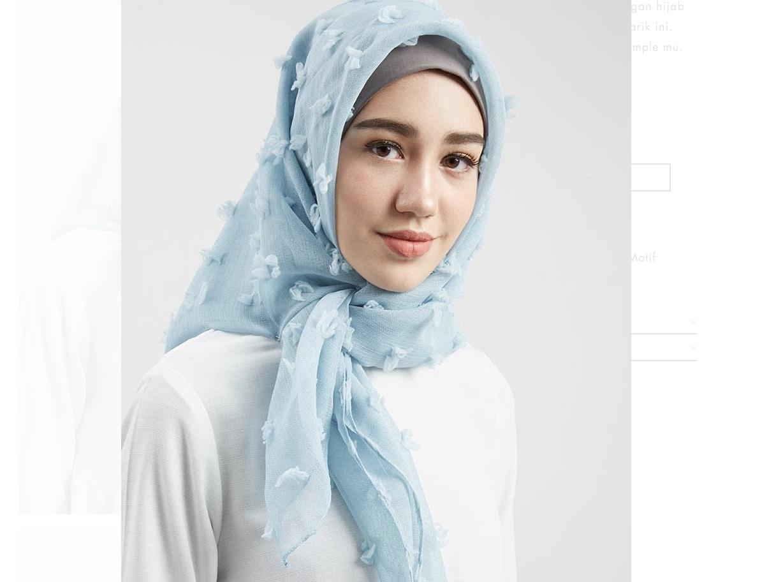 Square Sky Blue Hijab 30% OFF