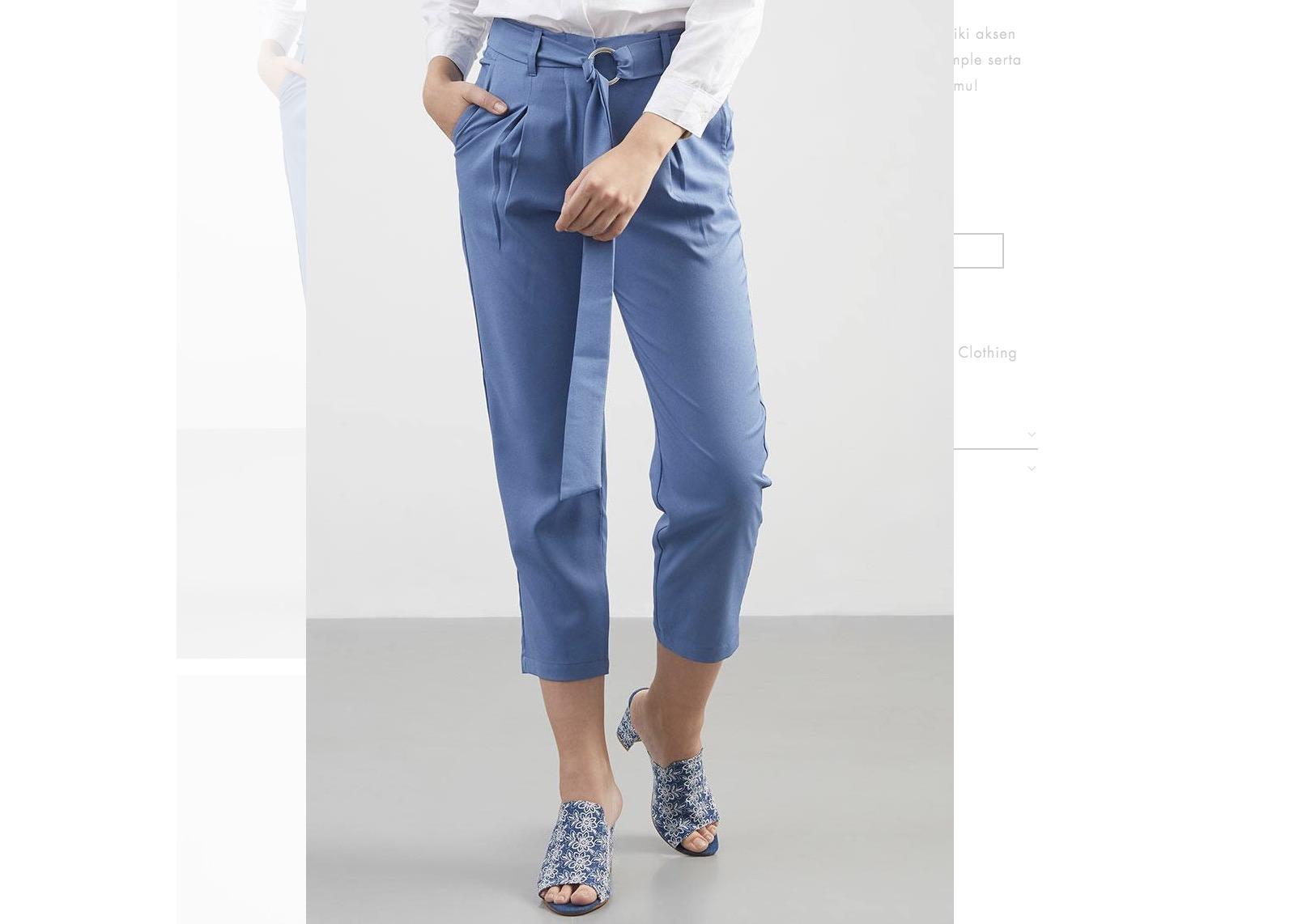 Bergaya Nyaman Dengan Blue Belted Pants Diskon 40%