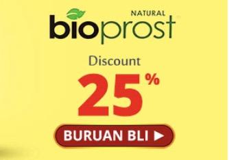 Pelihara Kesehatan Prostat Dengan Diskon 25% Dari Bioprost