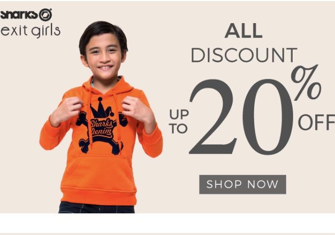 Promo Matahari Baju Anak Diskon 20% All Item
