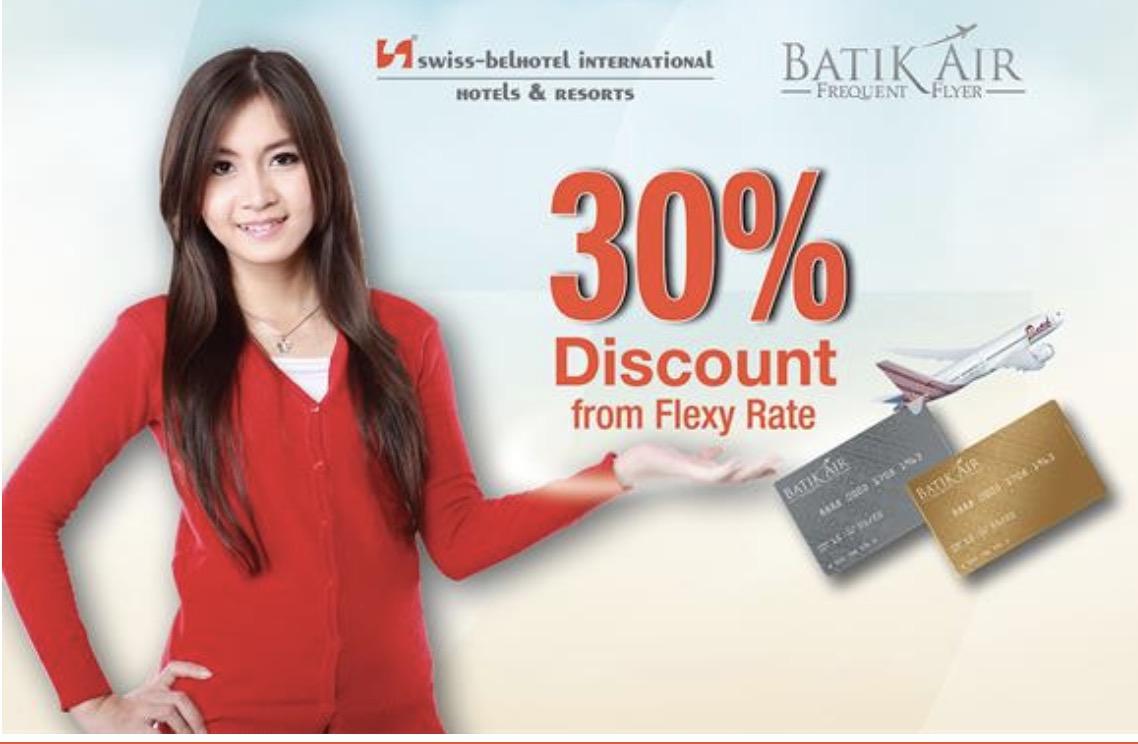Diskon 30% Swiss Belhotel Dengan Membership Batik Air