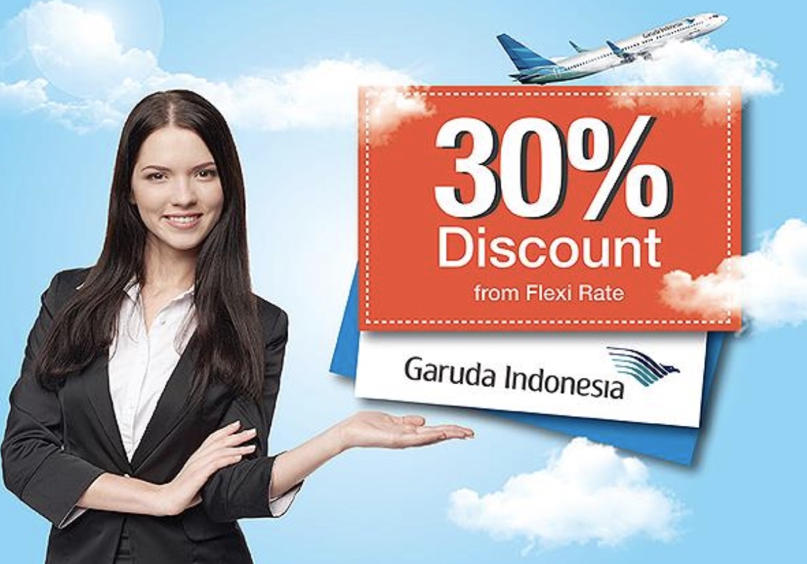 Diskon 30% Dengan Boarding Pass Garuda