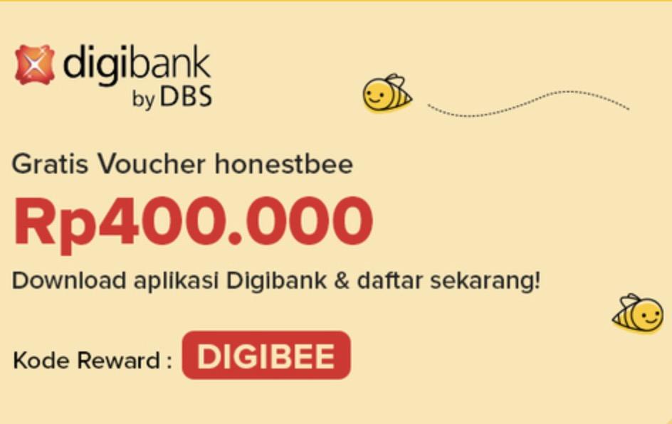 Daftar Digibank Dapat Voucher Honestbee 400rb