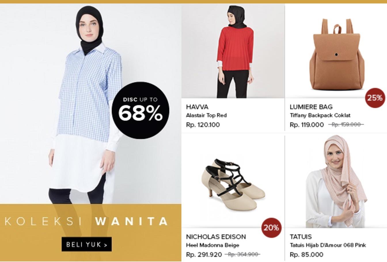 Baju Muslim Wanita Murah Diskon 68%