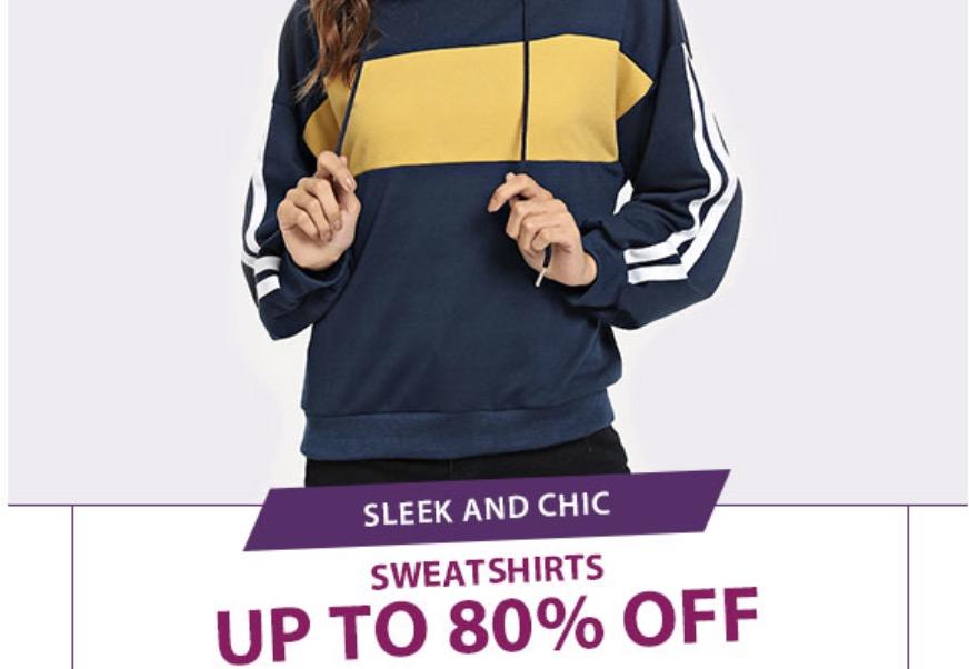 Promo Sweatshirt Wanita Diskon Hingga 80%