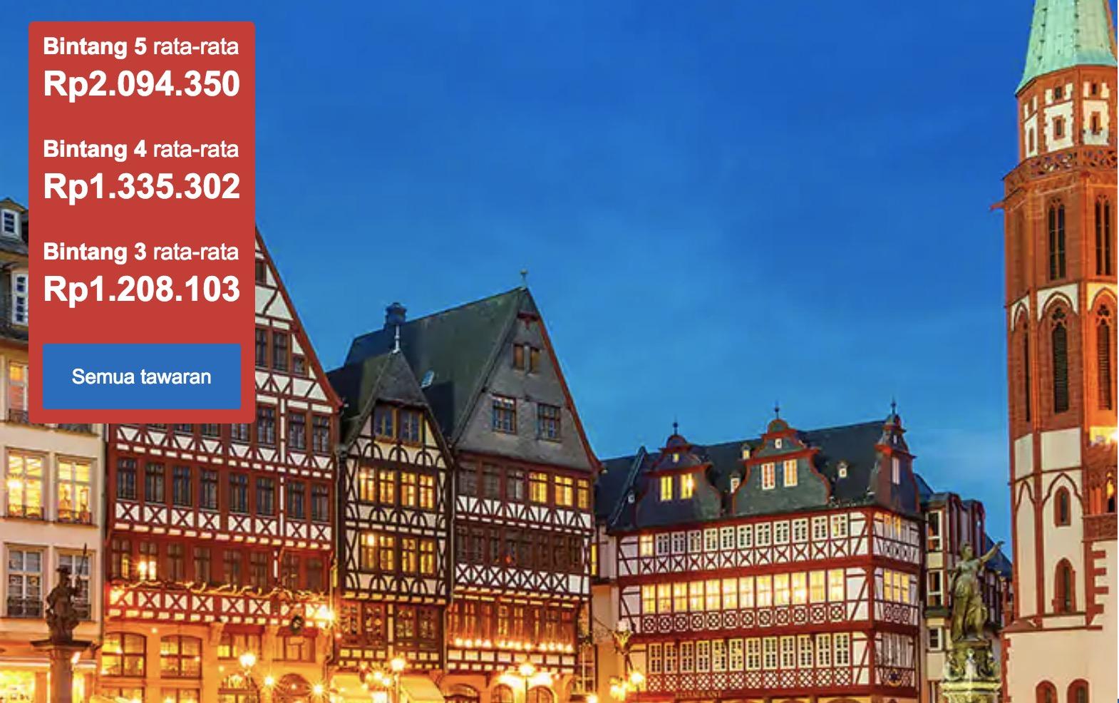 Hotel Murah di Frankfurt Jerman Mulai Dari 1.2jt Saja