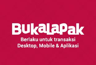 Customer Baru: Cashback 30% Credits Bukalapak (Min. Pembelian Rp 50.000)