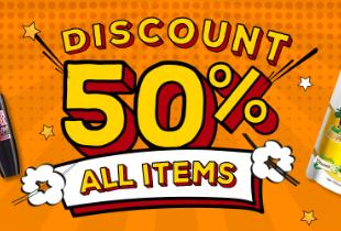 Discount 50% All Items di JD.ID!
