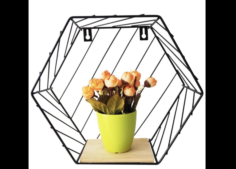 Wood Hexagon Shelf  Hanya 169rb