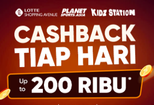 Cashback Setiap Hari Up To 200rb* | Disc Up To 80% | Extra Disc 5%