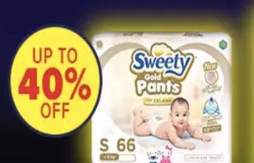 Popok Bayi Sweety Diskon Hemat Murah 40%