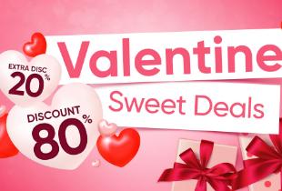 Valentine Sweet Deals Discount 80%