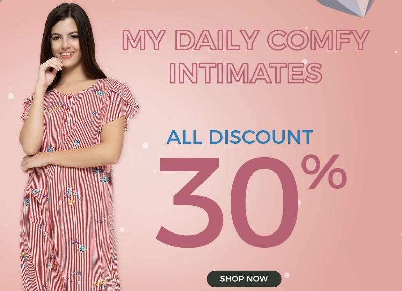 Voucher Matahari Mall Diskon 30% Baju Tidur Wanita