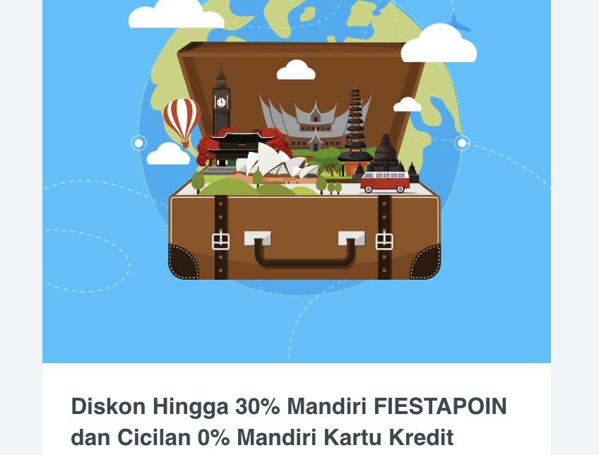 Promo Garuda Diskon Hingga 30% Dengan Mandiri Fiesta Poin