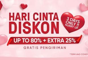 Hari Cinta Diskon Up To 80% + Extra 25%