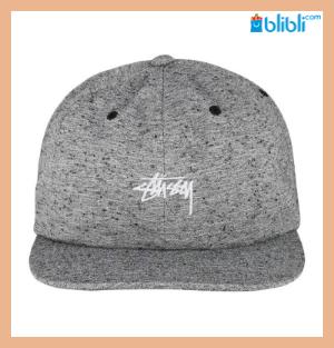 Stussy Grey  Strapback Cap