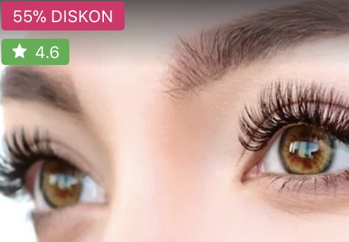Diskon 55% Eyelash Extension murah